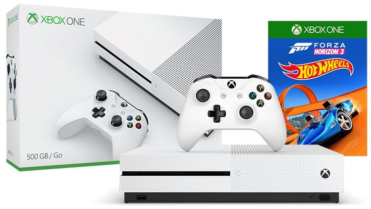 500GB Xbox One S Forza Horizon 3 Hot Wheels Bundle   COD IW and WWII $199