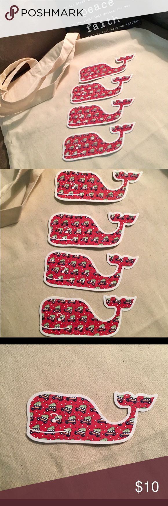4 Vineyard Vines Whale Stickers 4 new Vineyard Vines Stickers. Perfect for laptop love or anywhere you'd like to rep your fav VV brand! 🐳 Vineyard Vines Accessories
