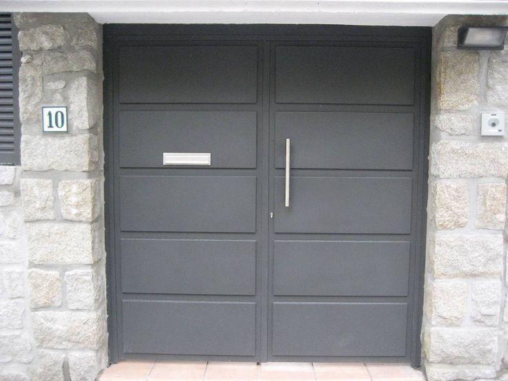 17 mejores ideas sobre puertas metalicas exterior en for Puerta zaguan aluminio