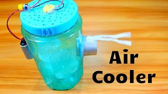 "Homemade Air Conditioner DIY - The ""5 Gallon Bucket"" Air Cooler! DIY- can be solar powered! - YouTube"