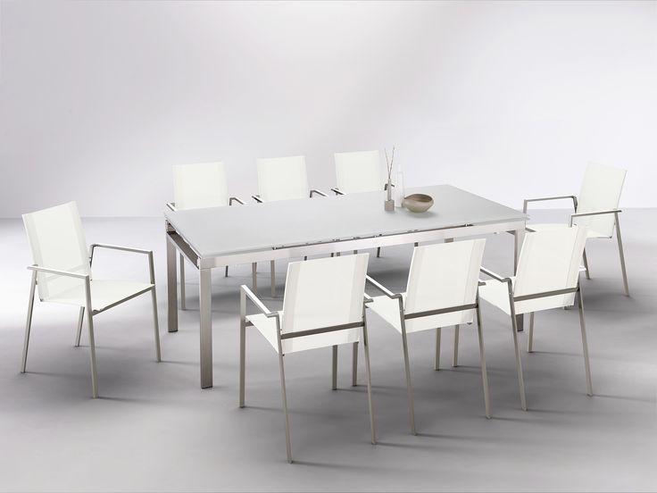 Ensemble repas k a en inox 304 et plateau en verre for Ensemble patio liquidation