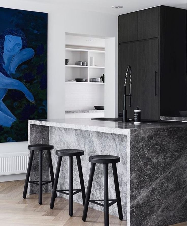 This sensational Portsea Grey kitchen by @studiogriffiths has been shortlisted for the IDEA awards. Photo @sharyncairns . Styling @beksheppard  #cdkstone #portseagrey  #limestone #portseagreylimestone #naturalstone #naturesmasterpiece #naturalbeauty #designstyle #designinspiration