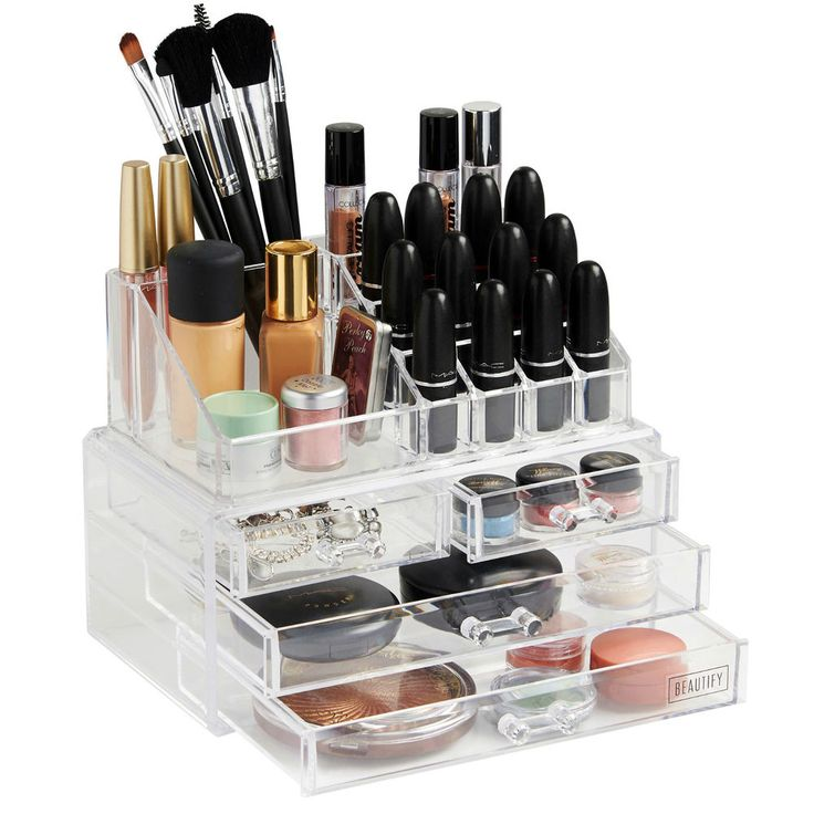 Beautify Clear Acrylic 4 Drawers Cosmetic Makeup Display Storage Table Organiser in Health & Beauty, Make-Up, Make-Up Cases & Bags | eBay