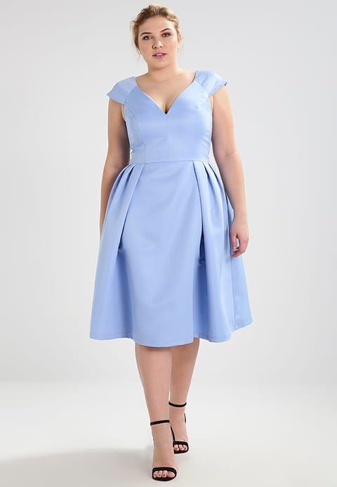 Chi Chi London Curvy BLAIR - Sukienka koktajlowa - blue za 359 zł (26.06.17) zamów bezpłatnie na Zalando.pl.