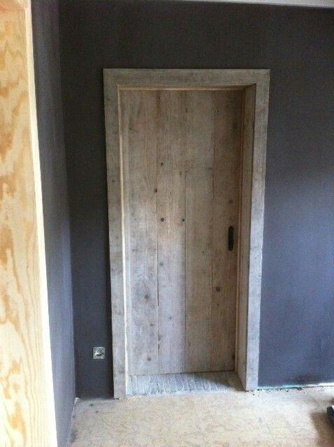 Steigerhouten deur