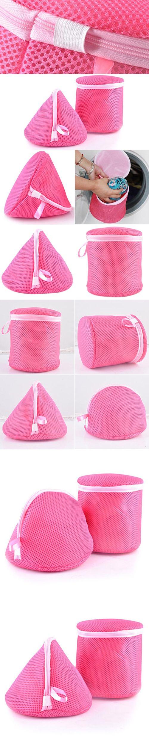 Underwear Aid Bra Laundry Mesh Wash Basket Net Washing Storage Zipper Bag 9IUM