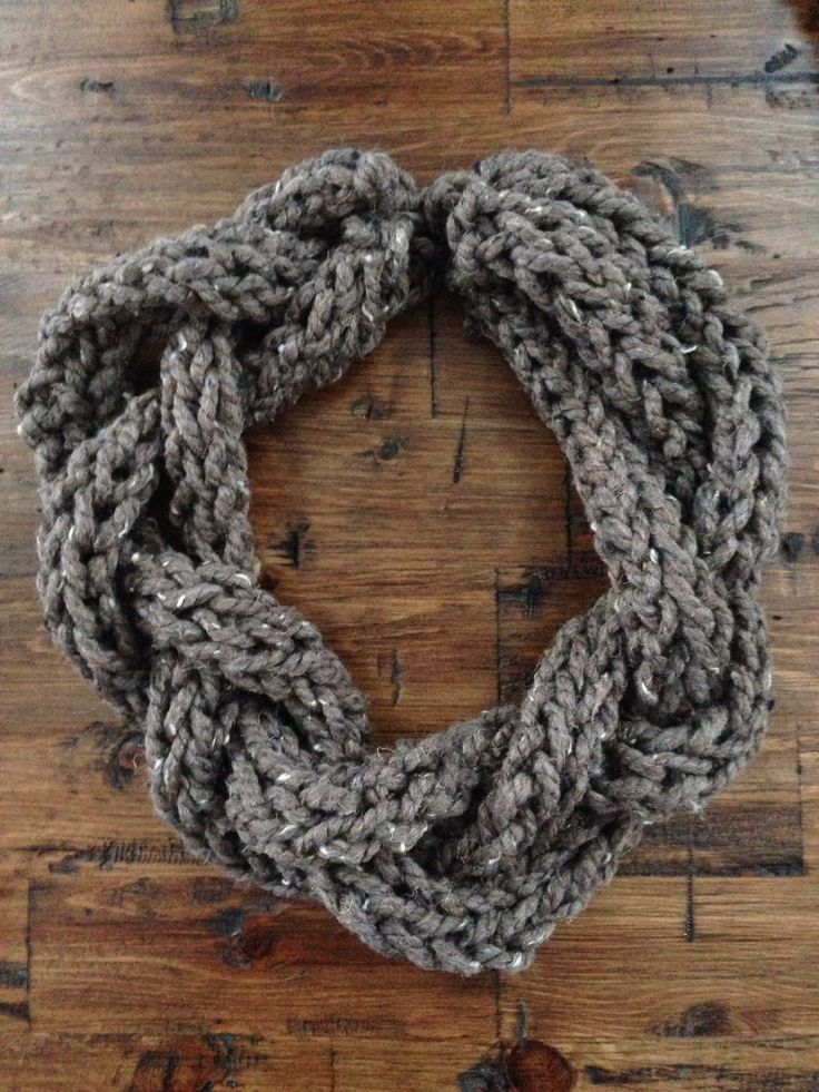 Finger knit scarf...so easy and fast to make.
