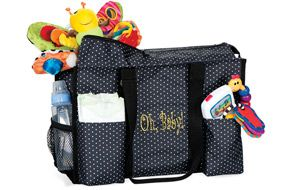 Zip-Top Organizing Utility Tote in Swiss Dot.  Available in five other prints and on {SALE} in February!
