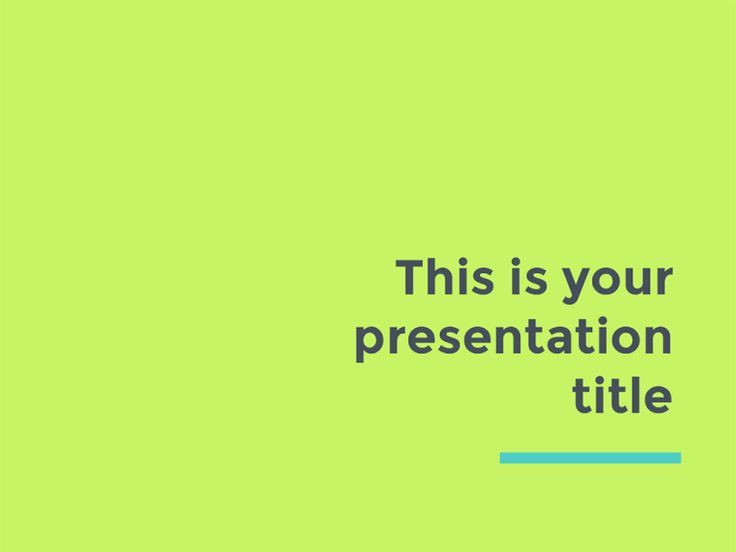 This fresh template design uses vivid colors and modern layout to engage your public. This is a free presentation template suitable to impress young audiences.