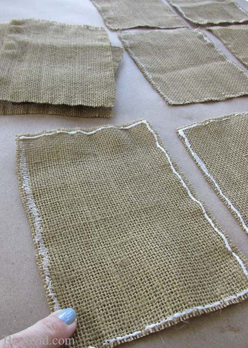 How To Easily Prepare Burlap For Crafts Crafty Crafts Pinterest