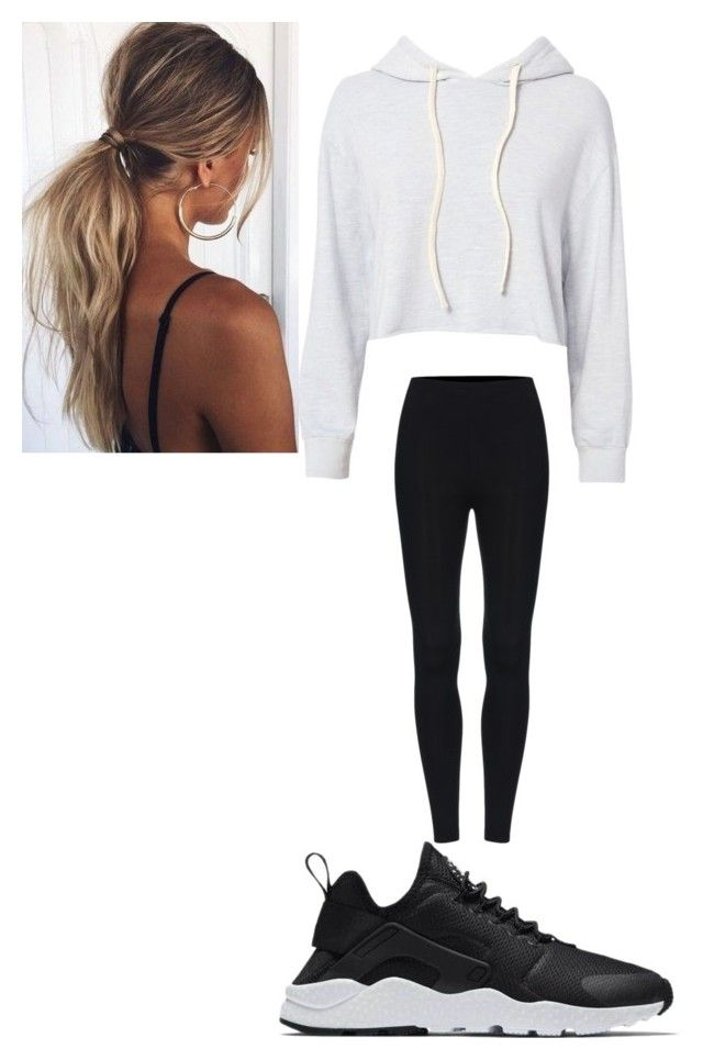 """Lazy day outfit"" by jno712 on Polyvore featuring Monrow and NIKE"