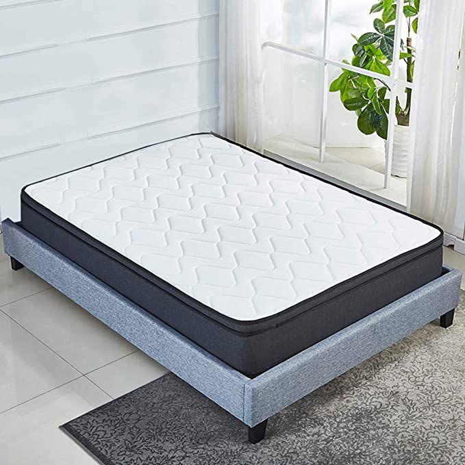 Luxury Euro Top 10 Inch Memory Foam Mattress Pocket Spring Coils Firm But Comfortable Soft Cotton Knitted Cover Cer Memory Foam Mattress Foam Mattress Mattress
