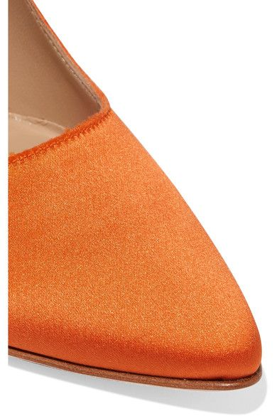 Vetements - Manolo Blahnik Satin Pumps - Bright orange - IT