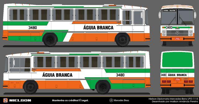 DESENHOS ONIBUSALAGOAS: ÁGUIA BRANCA  3480
