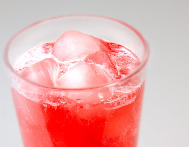 Strawberry-Almond Italian Soda / @DJ Foodie / DJFoodie.com