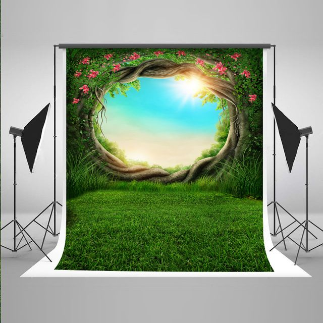 5x7FT Kate Green Scenery Photography Tudio Backgrounds Spring Muslin Backdrop Children Backgrounds for Photo Studio