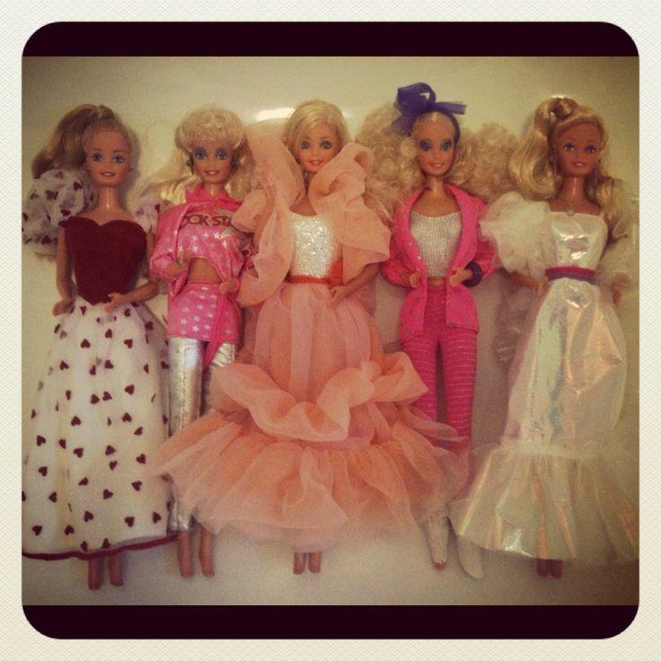 Barbies: Vintage Barbie, Barbie Girls, Grey Outfit, Cream Barbie, 80S Baby, Barbie Bff, 80Er Barbie, Rockers Barbie, 80 S