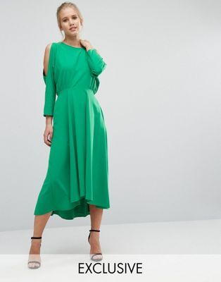 Closet Cold Shoulder Long Sleeve Dress