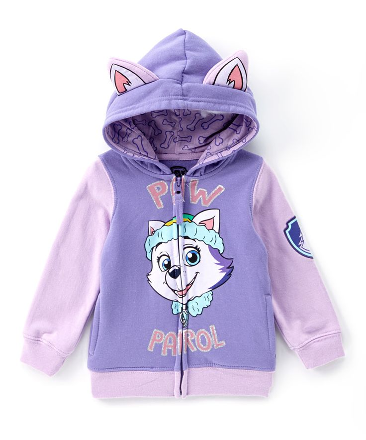 Loving this Purple PAW Patrol Everest Eared Zip-Up Hoodie - Toddler & Girls on #zulily! #zulilyfinds