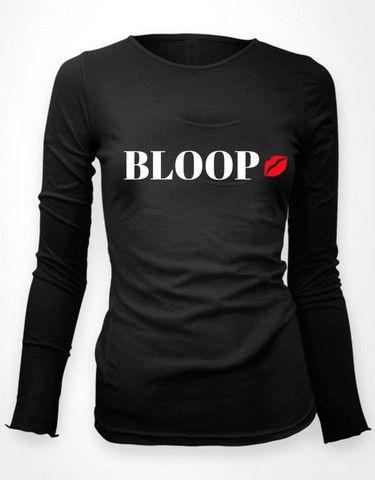 BLOOP w/ Lips - women's long sleeve tee – NENE LEAKES STORE