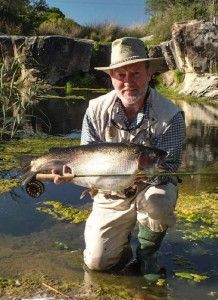 Wild fly-fishing in the Karoo with Alan Hobson of the Angler and Antelope Guest House in Somerset East.