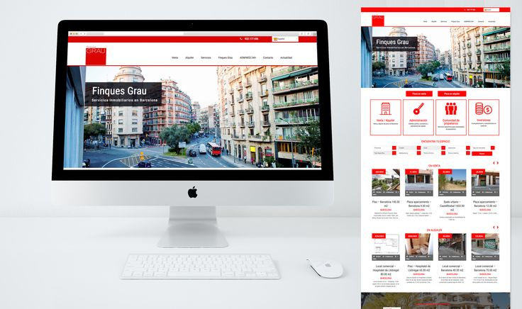 Web para Finques Grau - Servicios inmobiliarios en Barcelona #web #webdesign #laende #inmobiliaria #graphicdesign