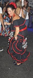 Festival flamenco dress and dancing- Nerja