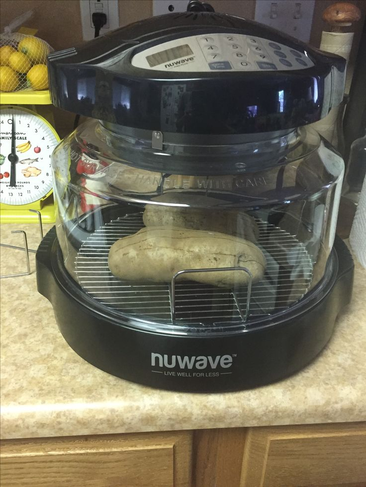 Nuwave Oven Baked Potatoes Poke Holes Into Potatoes Cook On The 1 Inch Rack For 45 Minute Hi 3 Nuwave Oven Recipes Baked Potato Oven Convection Oven Cooking