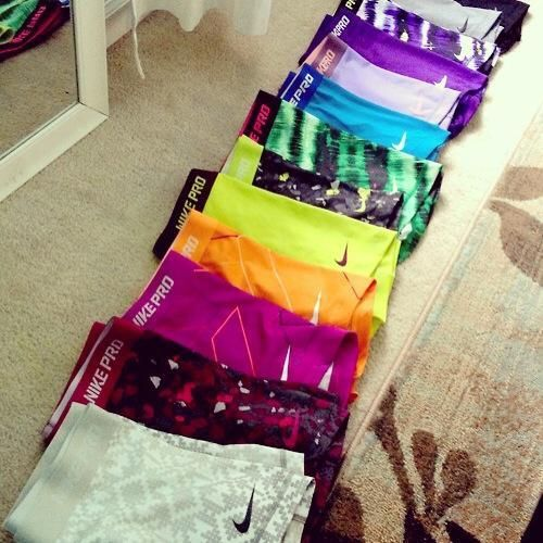 For those of you that don't know, Nike pros are my most favorite-est shorts ever❤