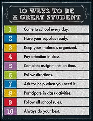 10 Ways to be a Great Student - Poster