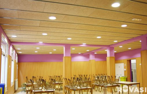 CEIP CASTELLA. Barcelona. DOWNLIGHTS + IP Accessory. Recessed downlights with IP65 from underneath accessory. ROVASI BOOK 11-12.
