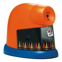 No more dull and wasted crayons! Sharpen them with the CrayonPro Electric Sharpener from Elmers. #classroomproducts @School Outfitters