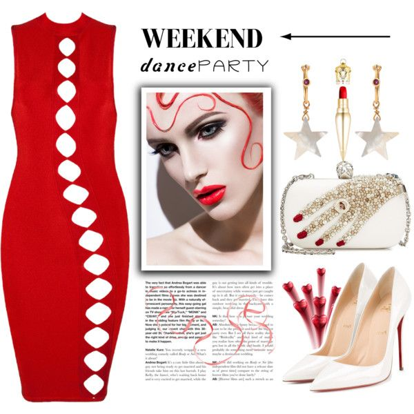 A fashion look from February 2017 featuring Christian Louboutin pumps, Alexander McQueen clutches and Theodora Warre earrings. Browse and shop related looks.