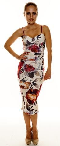 **Floral Bodycon Dress**(More Colours Available)