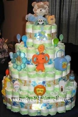 this is a really cute idea for a baby shower