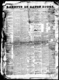 EAST BATON ROUGE PARISH,Louisiana - Baton Rouge - 1819-1856 - Baton-Rouge Gazette.  « Chronicling America « Library of Congress
