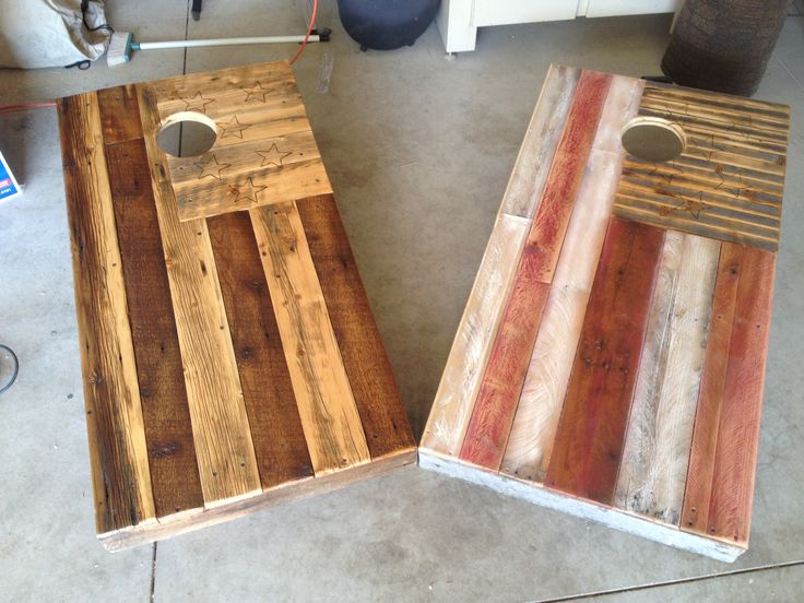 Reclaimed Cornhole Boards I Made From Pallets By Colten