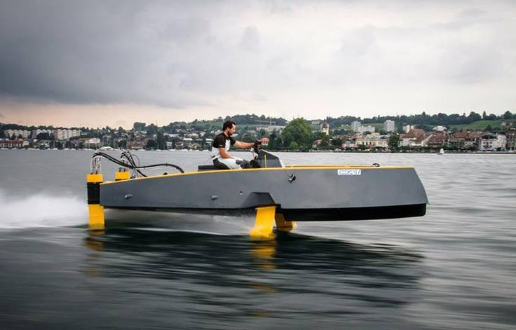 Hydros retractable hydrofoil boat | Electric boat ...