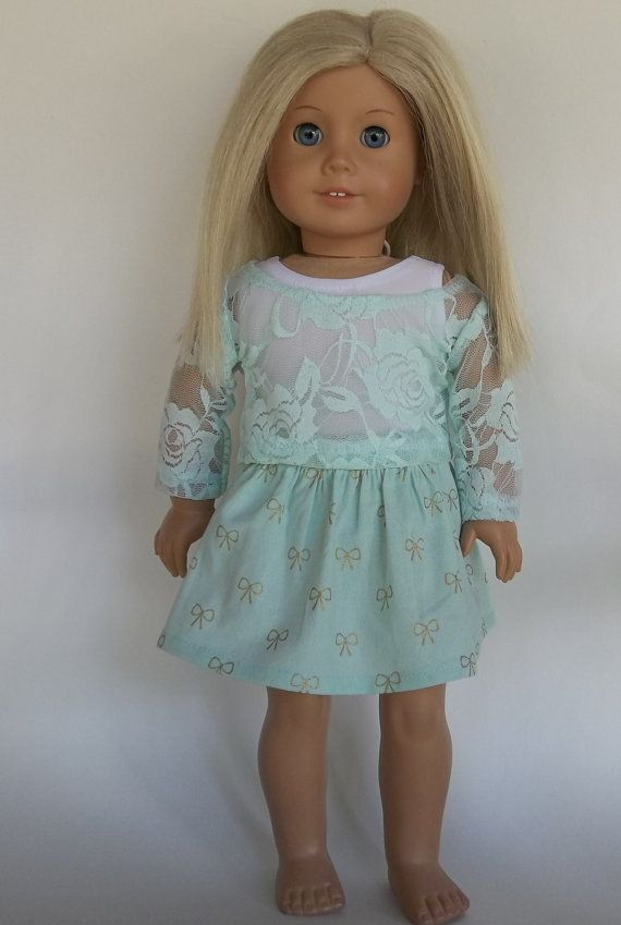 18 inch doll clothes mint green SKIRT with by GoodGollyMsDolly