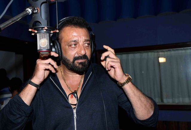Sanjay Dutt looks on during the recording of the song 'Ganesh Aarti' for upcoming Hindi film 'Bhoomi' in Mumbai.   Aamir Khan gestures during a news conference to launch a music track of his new film 'Secret Superstar' in Mumbai.  The film is scheduled for...