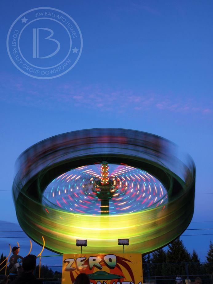 Zero Gravity. Fair Rides at the 2013 VIEx. Nanaimo. Vancouver Island.