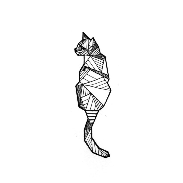 Geometric Tattoo – SKETCHES + TATTOOS — Allison Kunath Art (I absolutely adore the geometric cat….