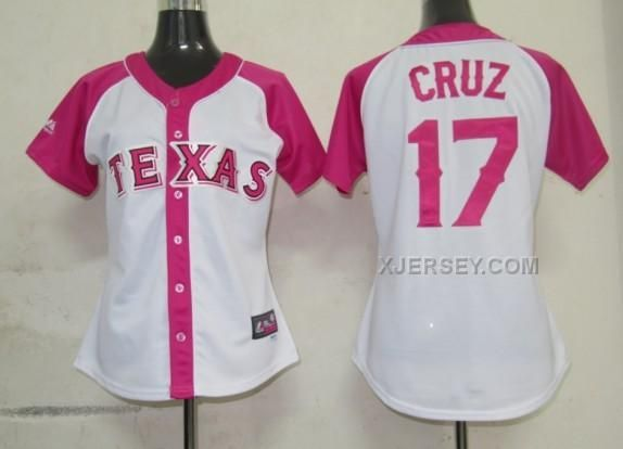 http://www.xjersey.com/rangers-17-cruz-women-pink-splash-fashion-jersey.html RANGERS 17 CRUZ WOMEN PINK SPLASH FASHION JERSEY Only $35.00 , Free Shipping!