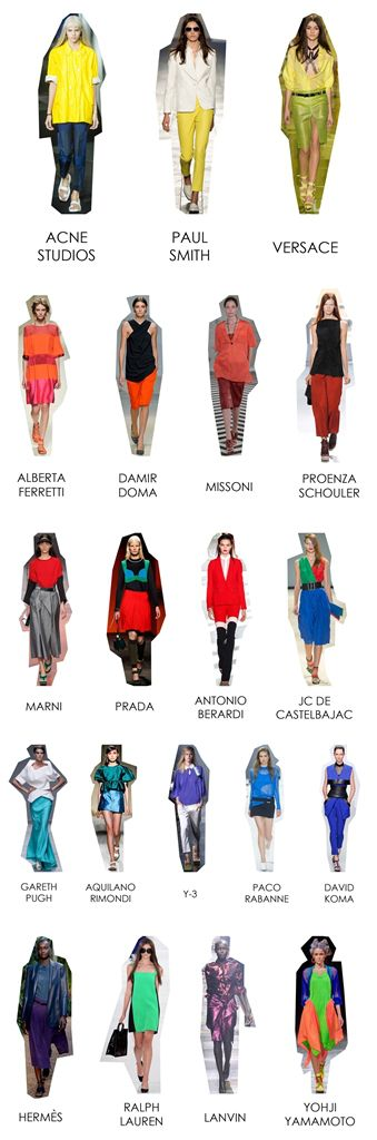 SS 14 Trends: Colorblocking.