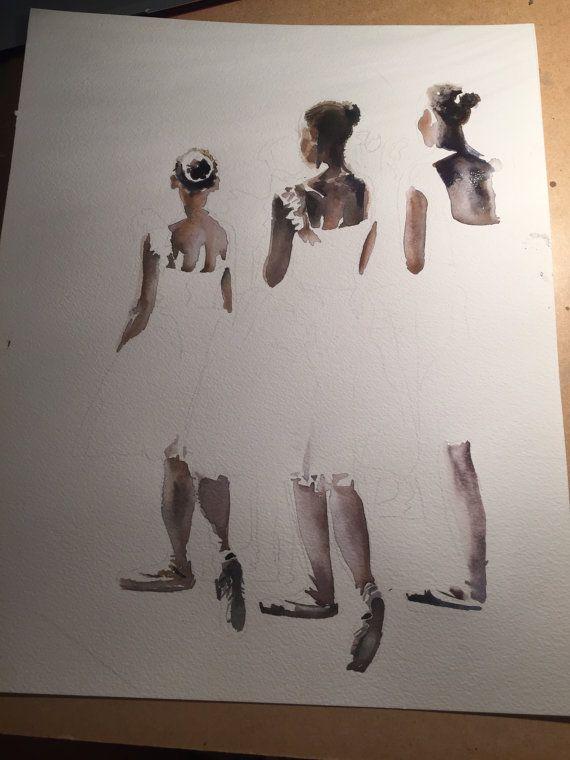 Bailarinas en las alas CALIDAD IMPRESIÓN de por AimeeDelValleArt