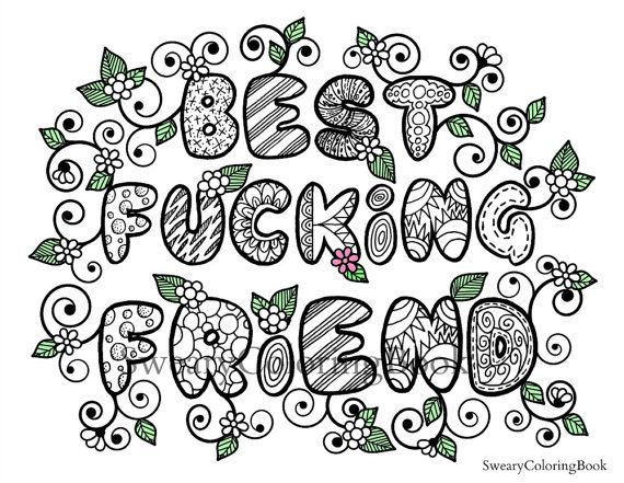 best fucking friend swear words coloring by swearycoloringbook