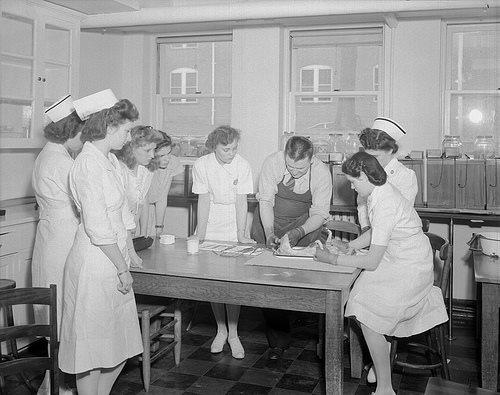 Nurse classes - State Hospital (aka Dorthea Dix-Hospital) 1946