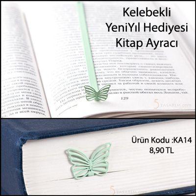 yeniyıl hediyesi kelebek kitap ayraçları modelleri