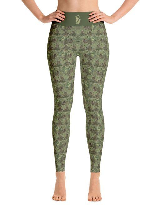 MiniBubble Camo Yoga Pants by YogaYam.com