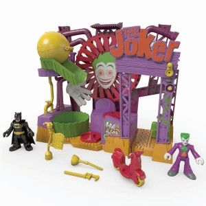 DC Super Friends The Joker Laff Factory The Laff Factory has multiple points that move and make sound.  http://bit.ly/1s8J3oc